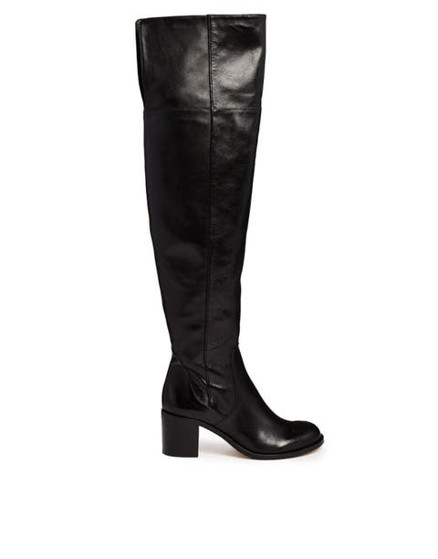 Brown, Boot, Textile, Leather, Black, Beige, Liver, Tan, Knee-high boot, Fashion design,