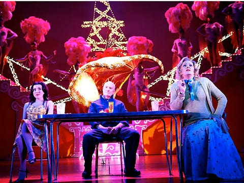 """<strong><p>Priscilla: Queen of the Desert (musical)</p></strong> <p>Palace theatre, Shaftesbury Avenue: London</p> <strong><p>Theatre show of the week</p></strong>  <p>Hop aboard the all-singing, all-dancing, drag-queen filled bus that is Priscilla and you'll certainly be in for an evening of laughter. The theatre adaptation of the 1994 Aussie comedy film is guaranteed to have you up your feet with plenty hairbrush-singing classics such as Girls Just Wanna Have Fun and I Will Survive – with spectacular costumes to match. Priscilla also stars a few familiar faces - remember Alfie from Home and Away, played by Ray Meagher? Drag your GBF (that's gay best friend) along to this, and he'll love you forever!</p><p><a href=""""http://www2.seetickets.com/tickets/event_calendar.asp?e artist=PRISCILLA%20QUEEN%20OF%20THE%20DESERT%20THE%20MUSICAL&e venaudit=Palace%20Theatre%2C%20Shaftesbury%20Avenue&resultsperpage=1000&dateto=31/10/2011&firstdate=07/10/2011&lastdate=31/12/2011&show=PRISCILLA%20QUEEN%20OF%20THE%20DESERT%20THE%20MUSICAL&filler1=see&filler2=NEWWEBSITE&filler3="""">GET YOUR PRISCILLA TICKETS!</a></p> <p><strong>Alison Awoyera</strong></p>"""
