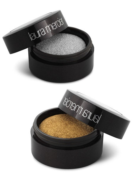 <p>Add some va va voom with these highly pigmented limited edition eye colours in glittering VIP Gold or shimmering VIP Silver</p>  <p><strong>Laura Mercier Foil Eye Colours,</strong> £18, Selfridges nationwide</p>