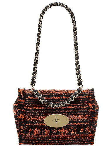 """<p>Who doesn't love a Mulbs? We certainly wouldn't mind adding this exotic tweed beauty to our wardrobes. A little on the pricey side, but trust us girls, it's an investment!</p> <p>Lily with Chain Handle, £795, <a href=""""http://www.mulberry.com/#/storefront/c5697"""">Mulberry</a></p>"""