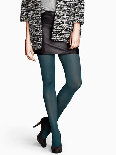 "<p>If you're not *quite* ready for an eye-catching colour like those from Forever 21, pick up this ladylike, matte style; it's perfect for the workday.</p> <p>80 denier tights in Petrol, £3.99, <a href=""http://www.hm.com/gb/product/16023?article=16023-D"" target=""_blank"">H&M</a></p> <p><a href=""http://www.cosmopolitan.co.uk/fashion/shopping/office-party-dresses"" target=""_blank"">THE OFFICE PARTY DRESS EDIT</a></p> <p><a href=""http://www.cosmopolitan.co.uk/fashion/shopping/new-in-store-22-oct"" target=""_blank"">NEW IN STORE THIS WEEK</a></p> <p><a href=""http://www.cosmopolitan.co.uk/fashion/shopping/"" target=""_blank"">SHOP THE LATEST FASHION LOOKS</a></p>"