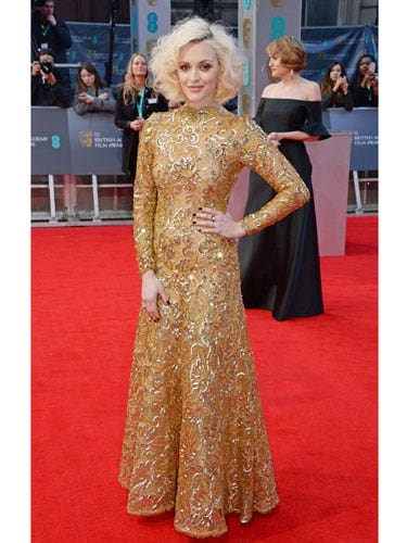 "<p>Cosmo fave Fearne Cotton is NEVER boring on the red carpet, and tonight's golden gown is no disappointment. Gorgeous embellishment - and clever long sleeves for the near-freezing temperatures outside.</p> <p><a href=""cosmopolitan.co.uk/fashion/news/golden-globes-red-carpet-dresses?click=main_sr"" target=""_blank"">RED CARPET AT THE GOLDEN GLOBES 2014</a></p> <p><a href=""http://www.cosmopolitan.co.uk/beauty-hair/news/styles/celebrity/baftas-2013-best-red-carpet-hair-and-beauty?click=main_sr"" target=""_blank"">LOOK BACK AT THE BAFTAS RED CARPET FROM 2013</a></p> <p><a href=""http://www.cosmopolitan.co.uk/beauty-hair/news/trends/celebrity-beauty/behind-the-scenes-beauty-at-the-tv-baftas?click=main_sr"" target=""_blank"">BEHIND THE SCENES AT THE BAFTAS: HOW THE STARS GET RED CARPET READY</a></p>"