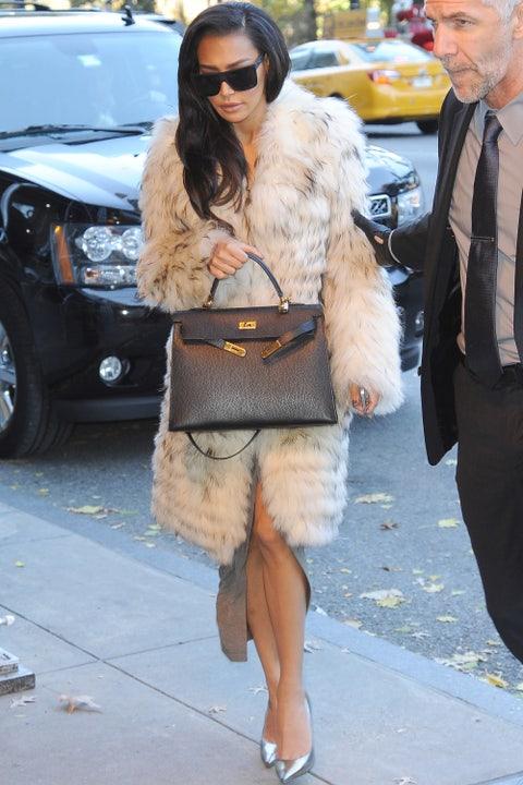 Naya Rivera in Soho on Nov. 18, 2014 in New York City.