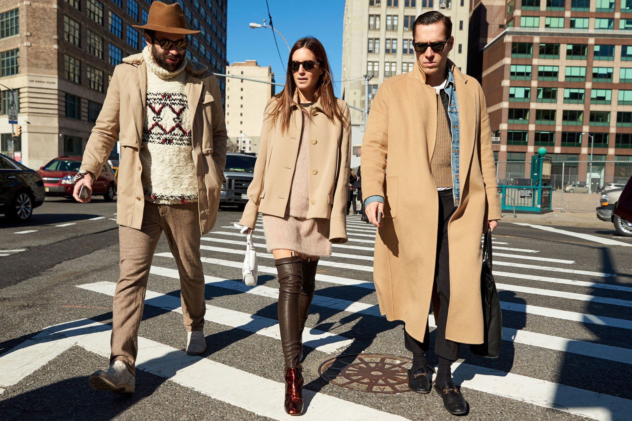 Eyewear, Vision care, Trousers, Infrastructure, Road, Pedestrian crossing, Coat, Standing, Outerwear, Street,