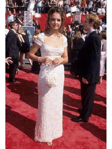 At the 1998 Emmys the young actress channeled her inner Joey Potter and looked prom-ready in an all-white number with a matching white purse.