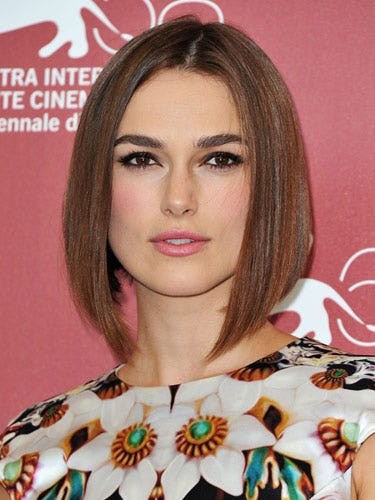 "There are a lot of things that make Keira Knightley's look awesome—from the sleek bobbed haircut, to the pop of pink blush to the gorge eyeliner. But it's her lashes that really set the tone. They make us want to break out the falsies!   <br /><br /> <b>Key Product:</b> Faux Lash Alexia, $16, <a href=""http://fauxlash.com/collections/all/products/alexia""target=""_blank"">fauxlash.com</a>"