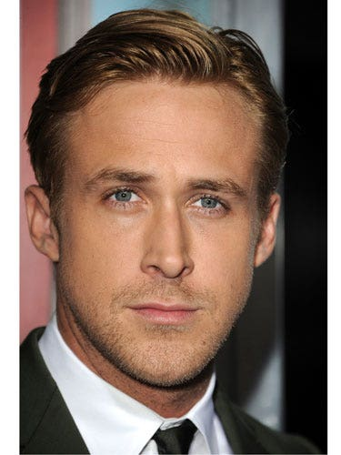 """No amount of your style input will make him look acceptable if he forgets about grooming. Would Ryan Gosling's appearance at <i>The Ides of March</i> premiere work without that hair? Nope. You can achieve a similar look by getting him to slick his hair to one side with a dime-size amount of pomade (finish with spray gel for a shiny look). For more formal hairstyle ideas, check out AskMen's guide, where <a href=""""http://www.askmen.com/fashion/fashiontip_500/567_formal-hairstyles-for-men.html"""" target=""""_blank"""">all the products are under $10</a> ."""