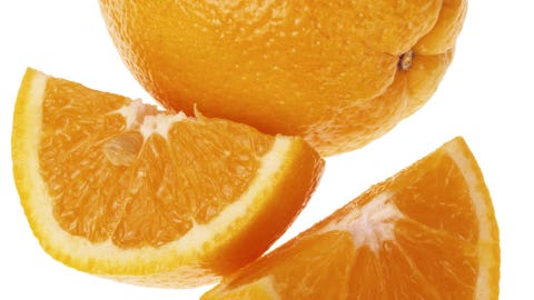 """Noshing on an orange or grapefruit—even adding a little lemon in your iced tea—can <a href=""""http://www.cosmopolitan.com/advice/tips/happiness-secrets"""" target=""""_blank"""">improve your mood</a> says psychologist Dale Atkins, PhD, author of <i>Sanity Savers</i>."""