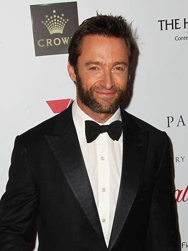 Hugh + one of our favorite musicals of all time = JOY! Plus just think of all the red carpet appearances he'll be making for Les Misérables before it opens on Christmas Day. We think Hugh was basically born to play Jean Valjean and when he sings we get extra swoon-y.
