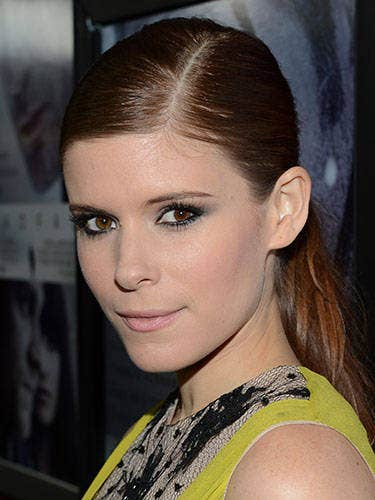 At the premiere of <i>Deadfall</i>, the redhead vamped it up in grey-rimmed smokey eyes and pale, Sixties-esque lips.