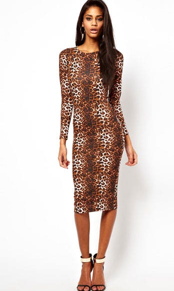 Clothing, Brown, Sleeve, Shoulder, Dress, Joint, Human leg, Style, One-piece garment, Fashion model,