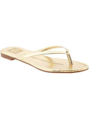 <p>In gold, this flip-flip adds a dose of glam to your swimwear or maxi dress.</p> <p>Thong sandal, $40, DV by Dolce Vita</p>