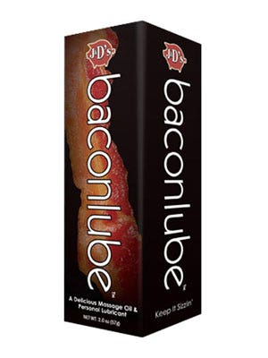 "<p><a href=""http://screwysextoys.com/2011/11/30/bacon-lube/"" target=""_blank""><strong>Bacon </strong></a></p> <p>Yes, the flavor of the 2010s finds its (questionable) place within the sex product industry.</p>"