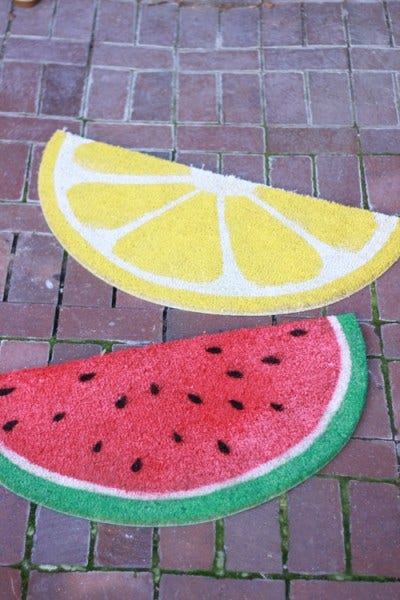 Circle, Sidewalk, Fruit, Brick, Brickwork, Flagstone, Citrullus, Cobblestone, Melon, Produce,