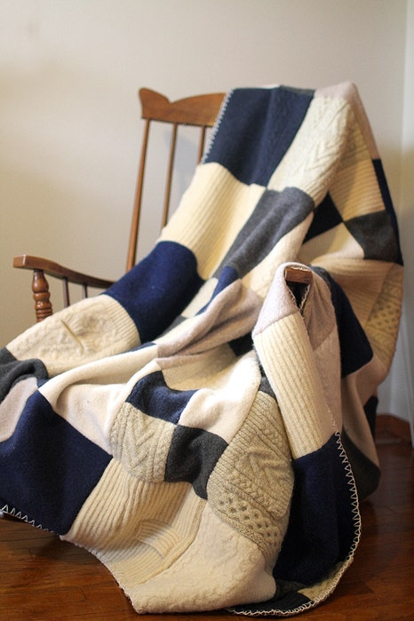 Blue, Brown, Textile, Linens, Beige, Creative arts, Sock, Woolen, Craft, Fashion design,