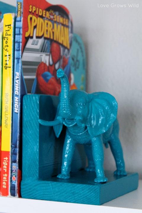 Blue, Toy, Action figure, Animal figure, Elephant, Bookend, Figurine, Plastic, Playset, Elephants and Mammoths,