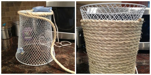 Basket, Product, Storage basket, Net, Laundry basket, Wicker, Mesh, Hamper, Bicycle accessory, Table,