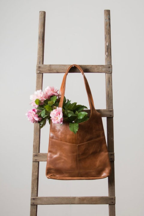 Brown, Bag, Shoulder bag, Luggage and bags, Tan, Maroon, Leather, Fawn, Liver, Floral design,