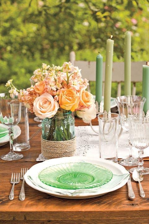 mason jar flower arrangementstwine vase