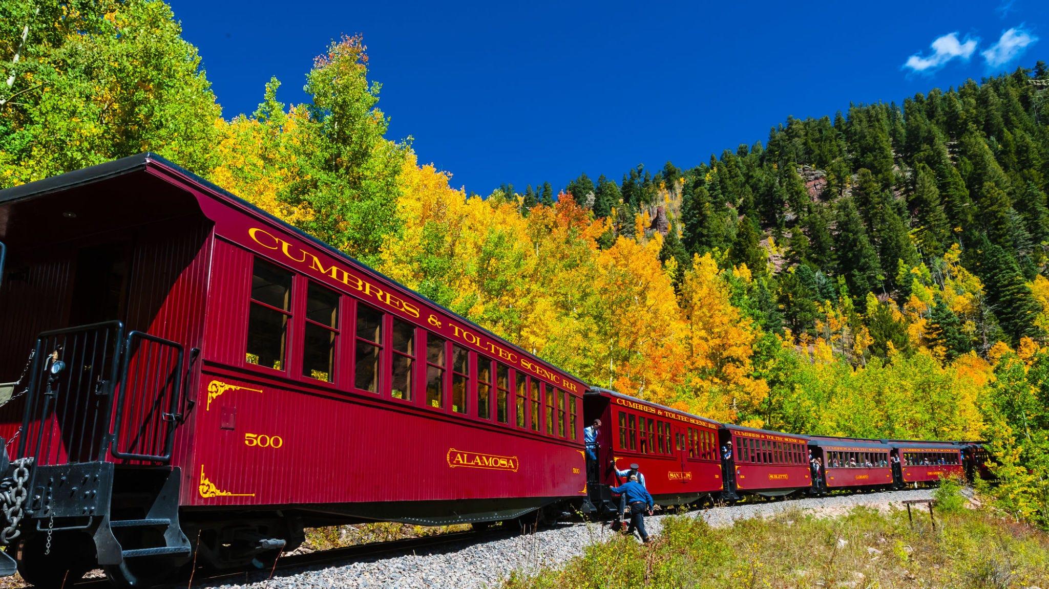 cumbres and toltec scenic railroad - fall foliage train rides colorado new mexico