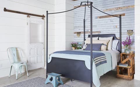 Furniture, Bed, Bedroom, Room, Bed frame, Product, Interior design, Canopy bed, Bed sheet, Bedding,