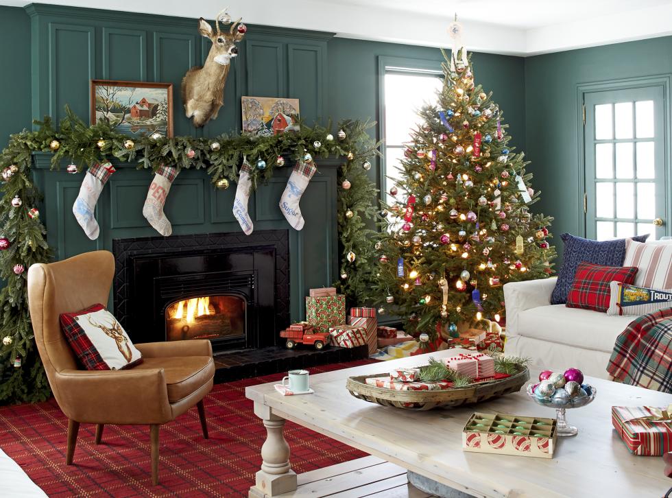 garland mantel christmas