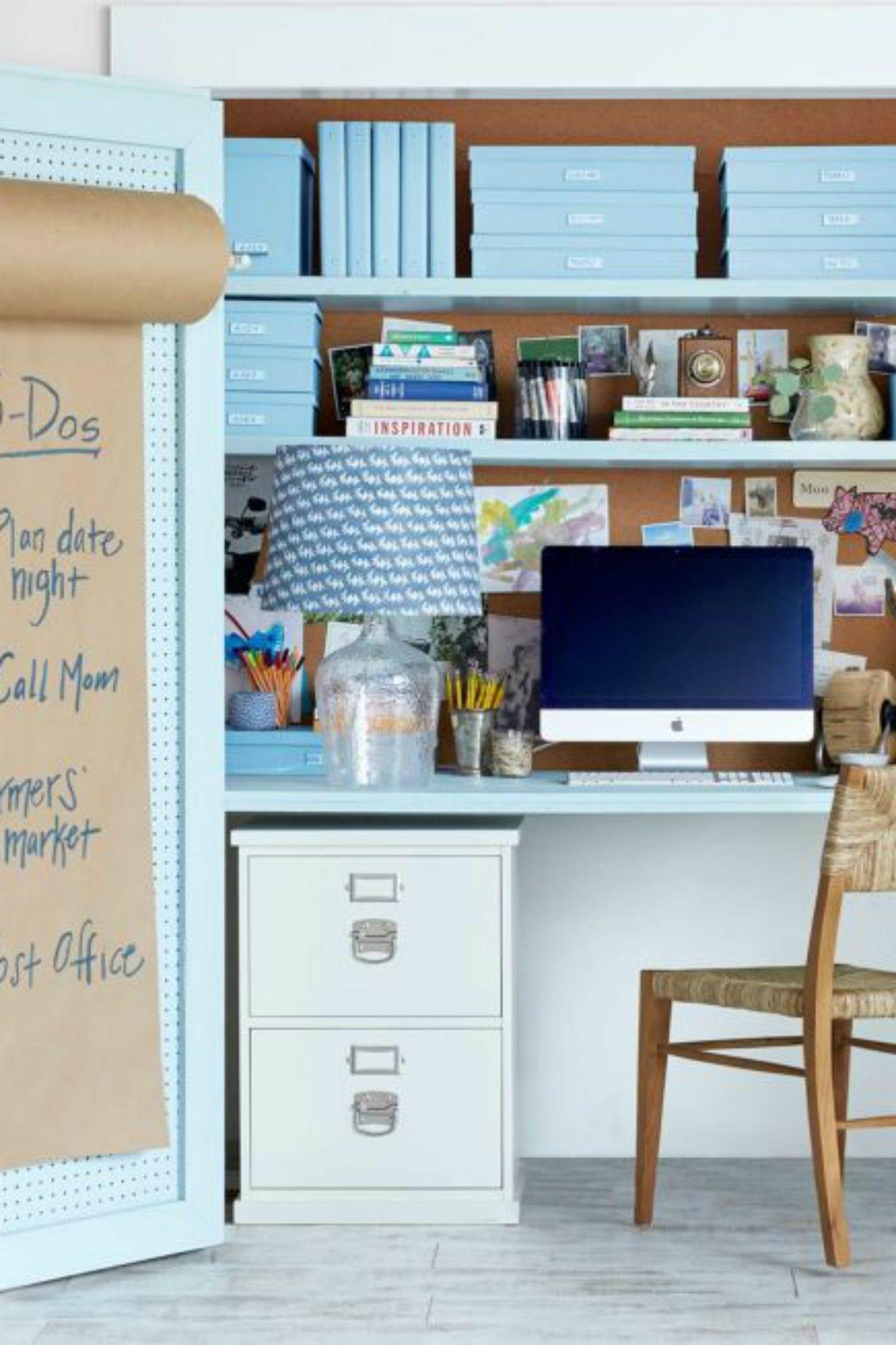 Furniture, Blue, Desk, Shelf, Turquoise, Room, Computer desk, Wall, Interior design, Hutch,