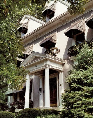 elegant hotel hidden among trees
