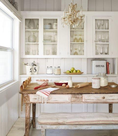 Furniture, Room, White, Interior design, Table, Home, Hutch, Building, Floor, Kitchen,