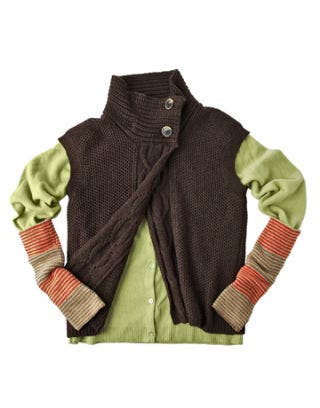 green and brown sweaters
