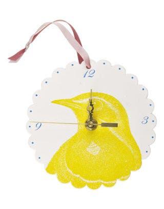 yellow bird clock
