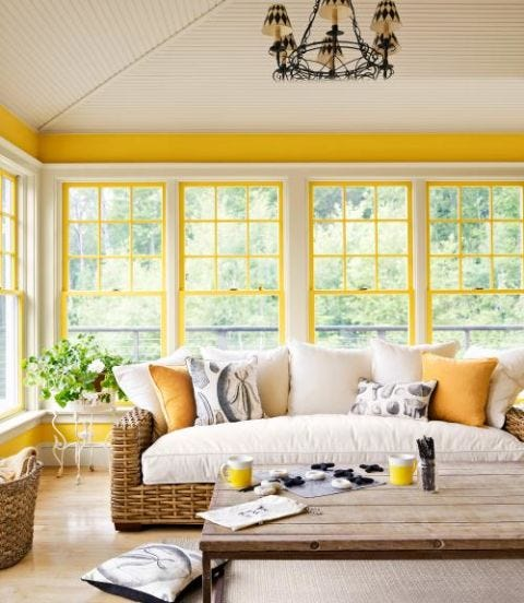 yellow porch