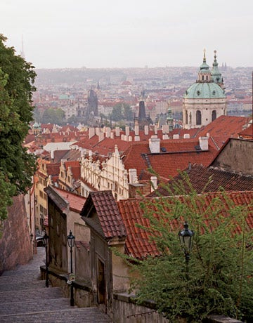 view of rooftops in prague