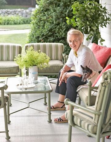 nancy taylor on porch