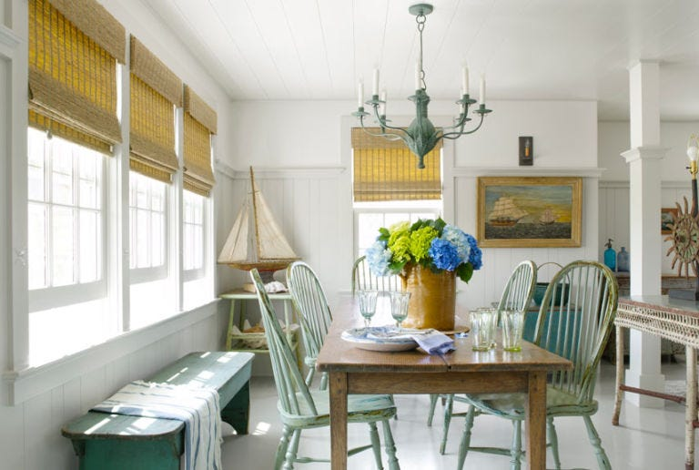colorful country dining room