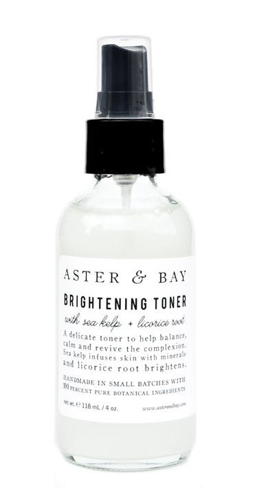 """A&nbsp;spray of this brightening mist gives you a&nbsp;post-coital-esque dewiness, but&nbsp;the formula&nbsp;also&nbsp;has a balancing and calming effect (much like a good between-the-sheets session)&nbsp;on top of that, too.&nbsp;  $26; <a href=""""http://www.leifshop.com/products/sea-kelp-licorice-root-brightening-toner"""">leifshop.com</a>"""