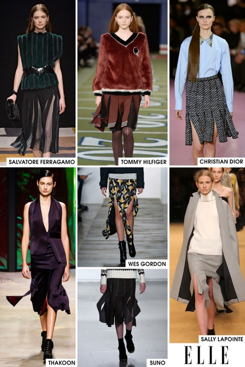 Carwash pleats made their case early in New York for being the skirt shape of the season and then by the time Paris rolled around and Raf Simons showed them on the Christian Dior runway, their fate was certain. The new way to show off those gams next season will be through these pleats.