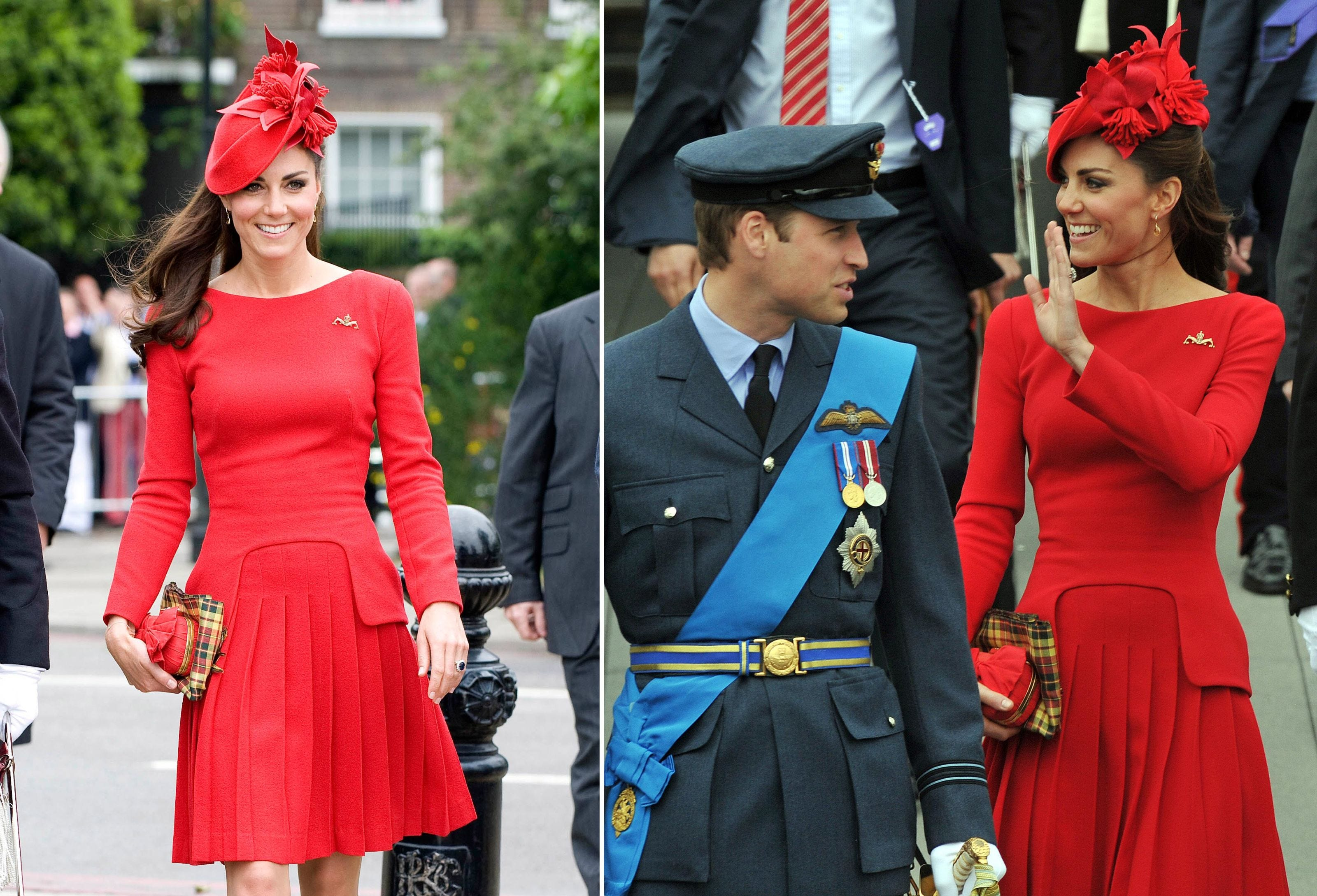 Red, Outerwear, Flag, Fashion accessory, Coat, Style, Dress, Hat, Headgear, Cap,