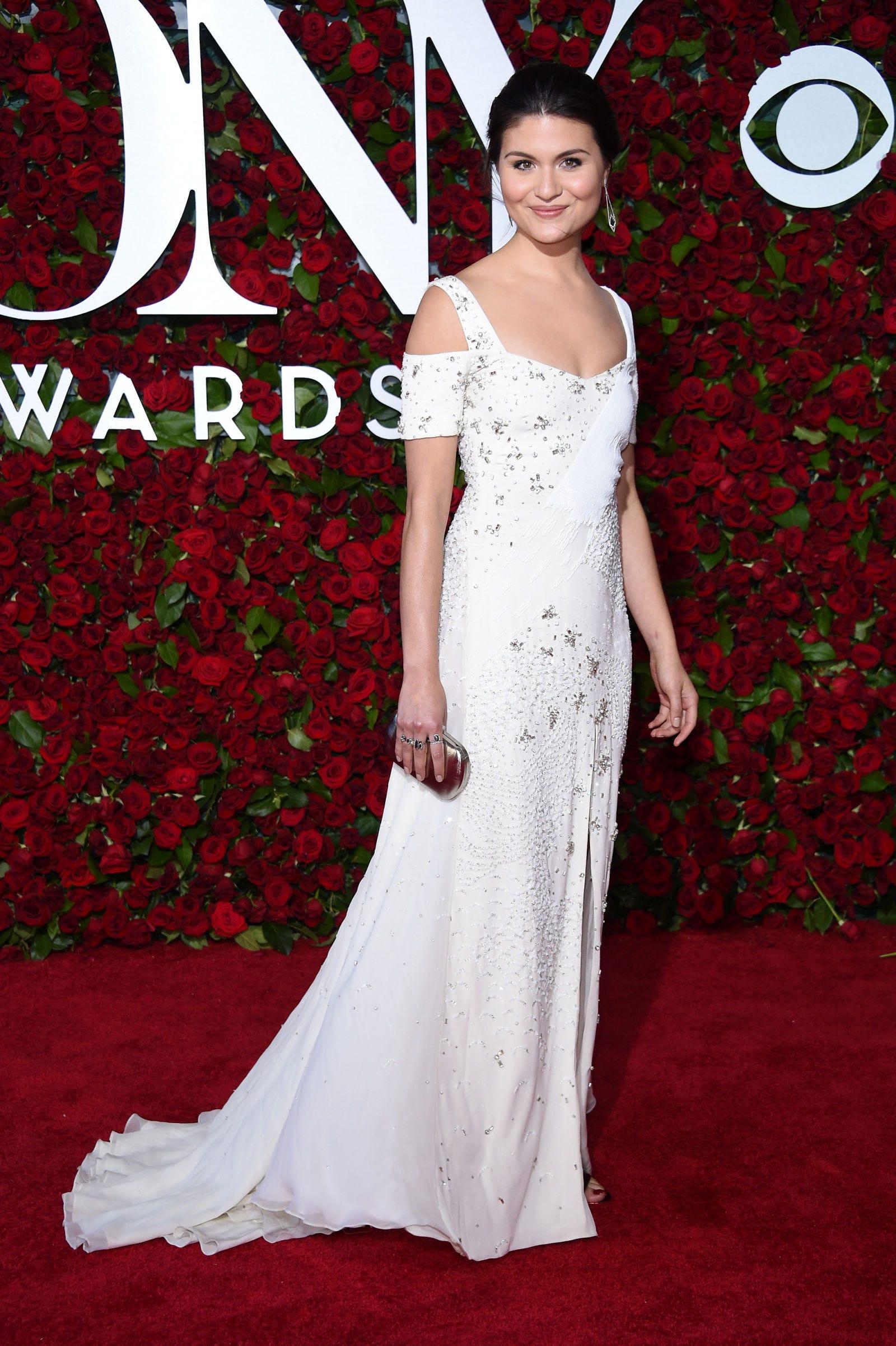 Clothing, Human, Dress, Shoulder, Red, White, Formal wear, Gown, Flooring, Carpet,