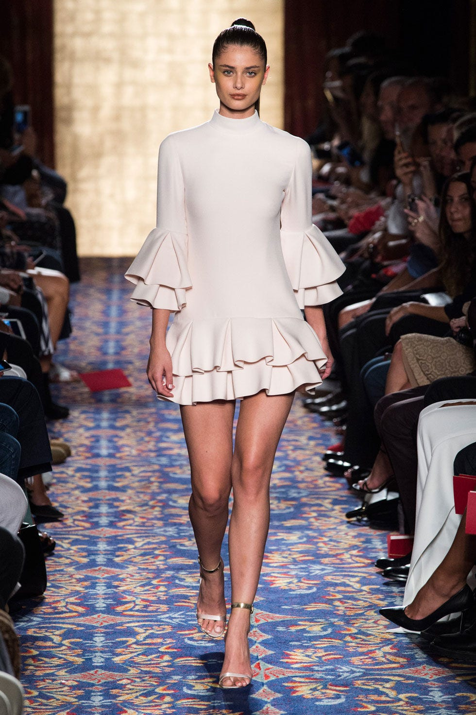 Clothing, Leg, Fashion show, Shoulder, Runway, Joint, Fashion model, Style, Fashion, Waist,
