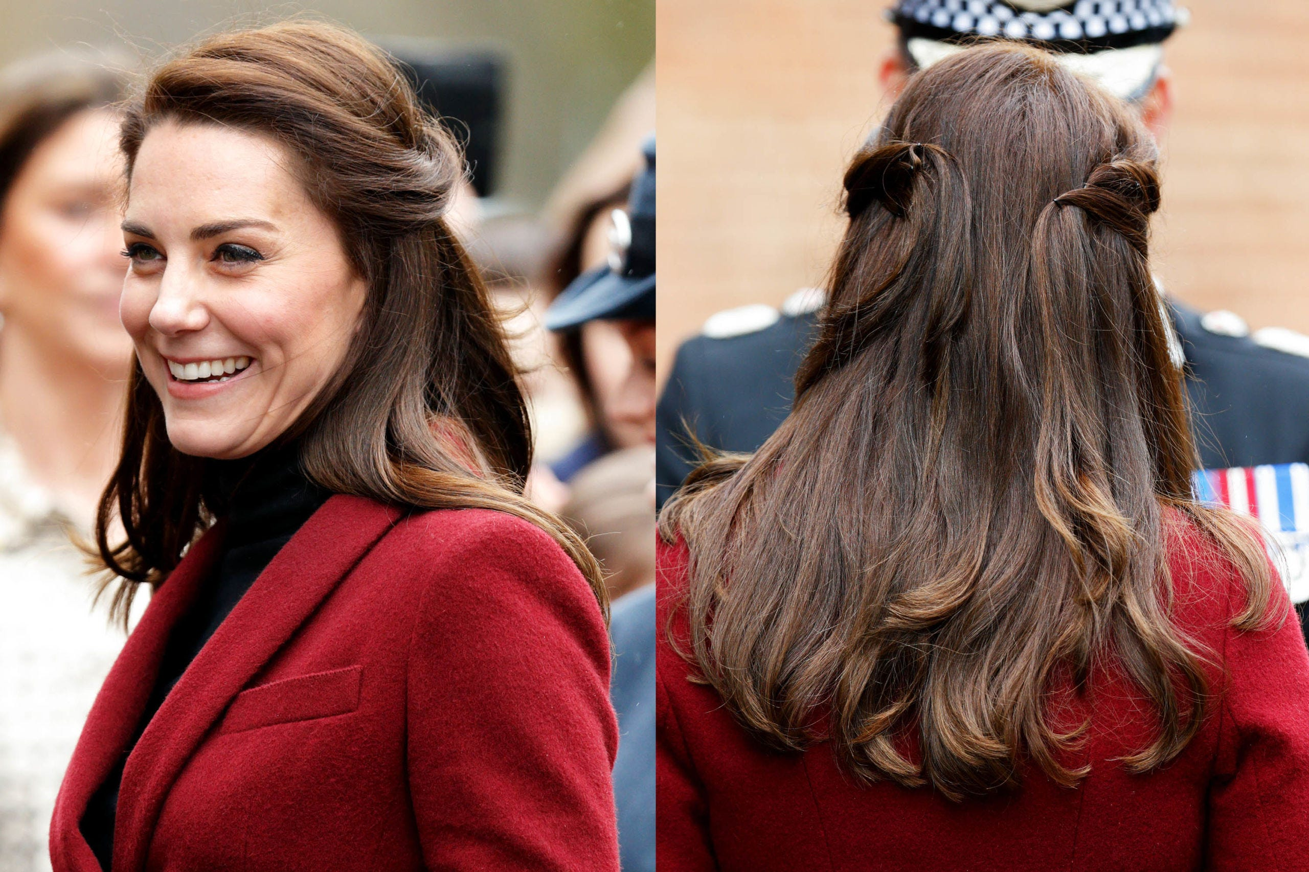 Hairstyle, Style, Long hair, Beauty, Brown hair, Hair accessory, Street fashion, Maroon, Hair coloring, Tooth,