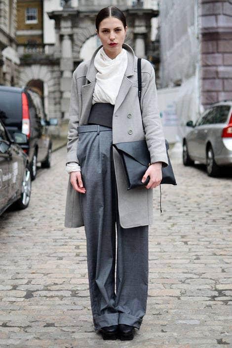 Clothing, Sleeve, Collar, Land vehicle, Street, Outerwear, Auto part, Street fashion, Style, Bag,