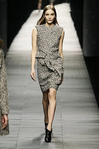 Clothing, Fashion show, Human leg, Shoulder, Dress, Runway, Joint, Fashion model, Style, Formal wear,