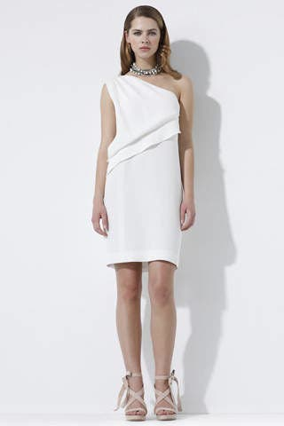 Clothing, Product, Sleeve, Human leg, Shoulder, Dress, Joint, Standing, White, One-piece garment,