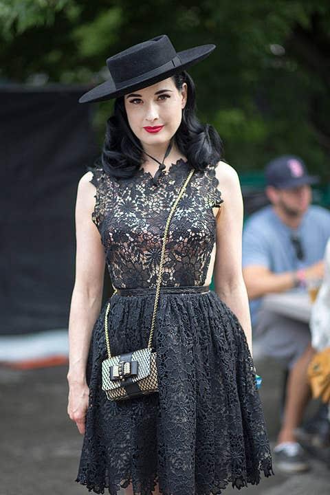 Clothing, Dress, Hat, Bag, Style, Street fashion, Fashion accessory, Headgear, Costume accessory, Fashion,