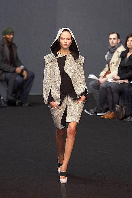 Clothing, Footwear, Leg, Human body, Event, Fashion show, Outerwear, Runway, Style, Fashion model,
