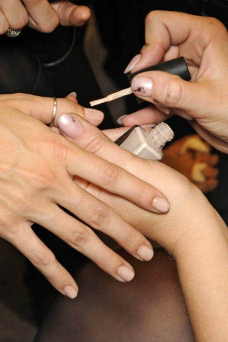 Finger, Skin, Nail, Hand, Wrist, Thumb, Nail care, Service, Personal grooming, Gesture,