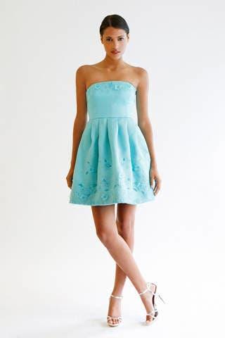 Clothing, Sleeve, Shoulder, Dress, Human leg, Textile, Standing, Joint, One-piece garment, Strapless dress,