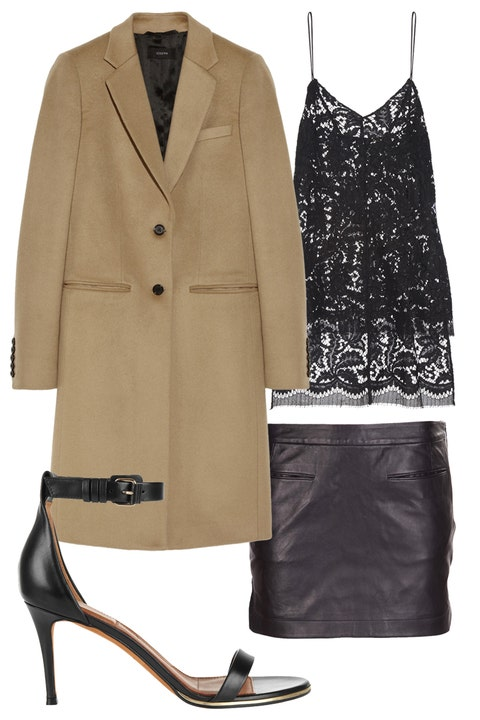Clothing, Product, Brown, Coat, Collar, Sleeve, Textile, Outerwear, High heels, Style,