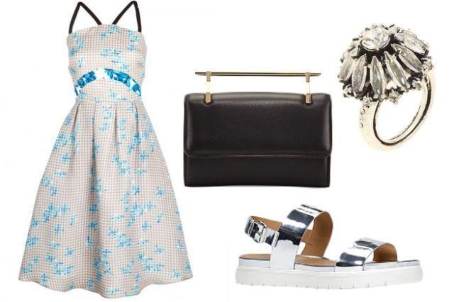 Blue, Product, Textile, Dress, White, Pattern, Style, One-piece garment, Aqua, Teal,